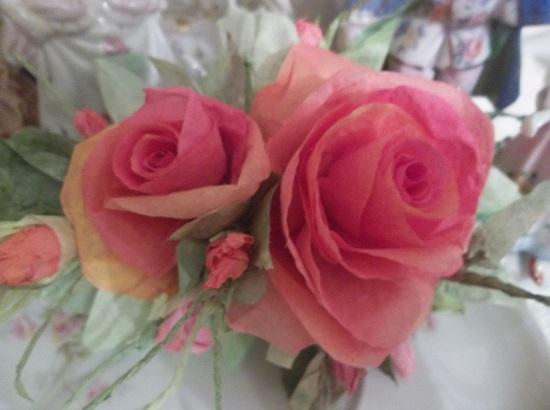 (Katrina Tangerina) Handmade Paper Rose Clip