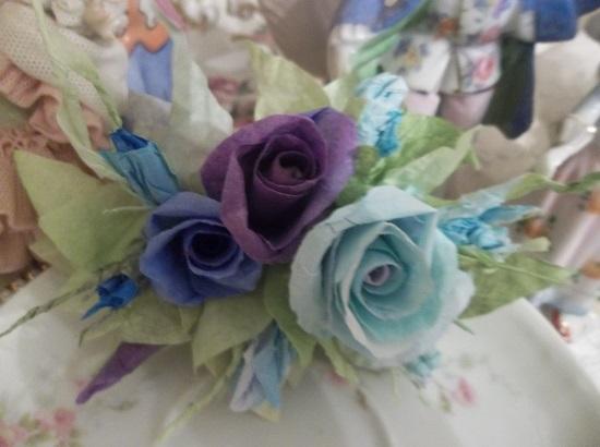 (Violet Alice) Handmade Paper Rose Clip