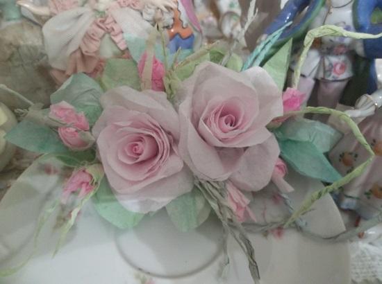 (Selma) Handmade Paper Rose Clip
