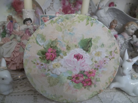 (Joyous Ever After) Tin Box With Handpainted Paper Lid