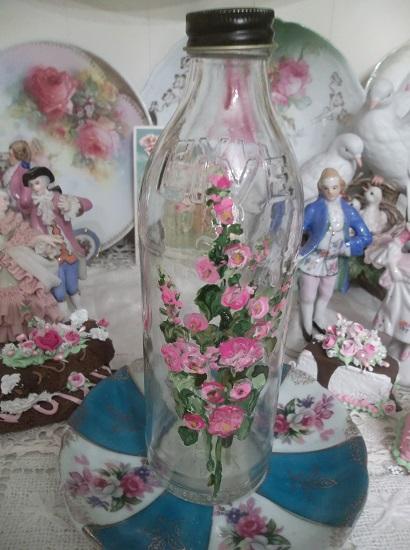 (Live Well) Handpainted Glass Bottle