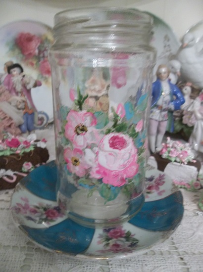 (Mid Summer) Handpainted Glass Jar