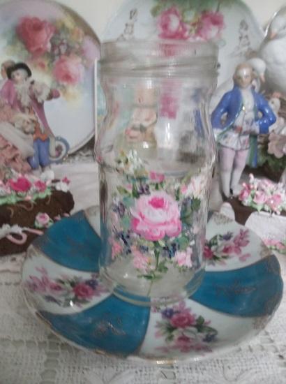(Springtime) Handpainted Glass Jar