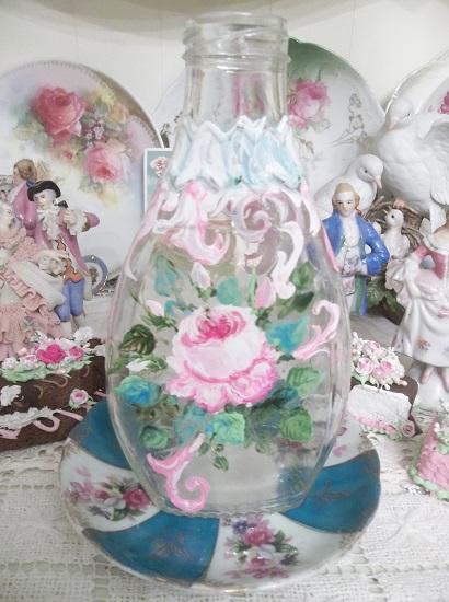 (Wish) Handpainted Glass Bottle