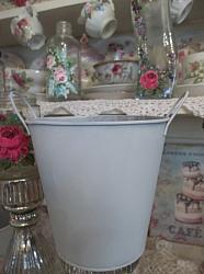 (Dixie's Garden) Galvanized Handpainted Can Planter