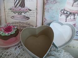 (Always Blooming) Handpainted Mache Heart Box