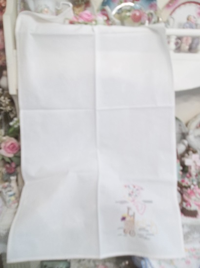 (Market Day) Old Embroidery Perfect Dish Towel