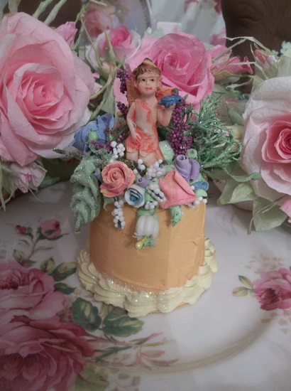(Lily Belle Fairy Cake) Funky Junk Fake Cake