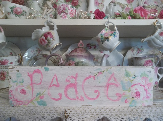 (Peace In Pink) Handpainted Sign