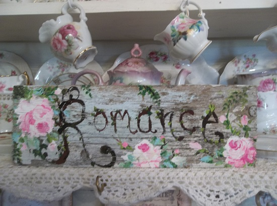 (Rustic Romance Of Life) Handpainted Sign