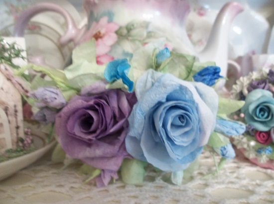 (Lacey Jacki) Handmade Paper Rose Clip