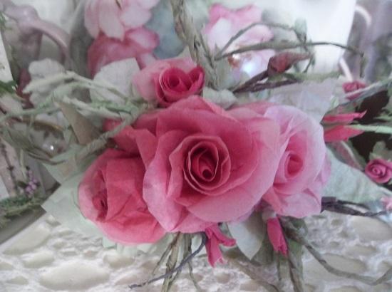 (Elaine) Handmade Paper Rose Clip