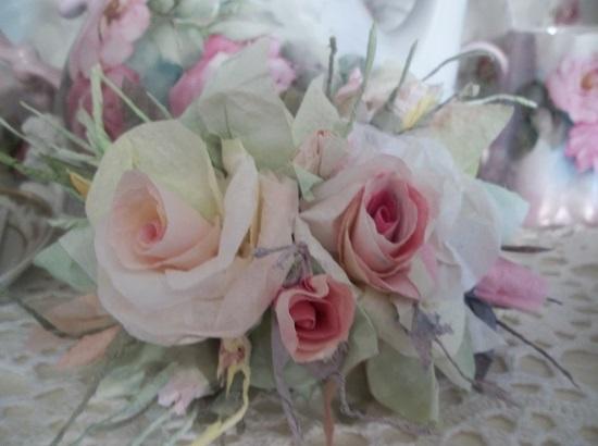 (Brandi) Handmade Paper Rose Clip