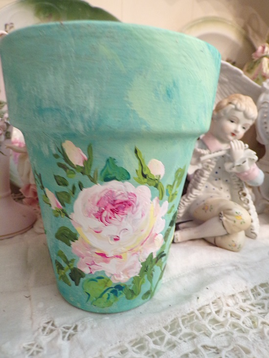 (Monet) Handpainted Pot