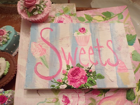 (SWEETS) Handpainted Sign