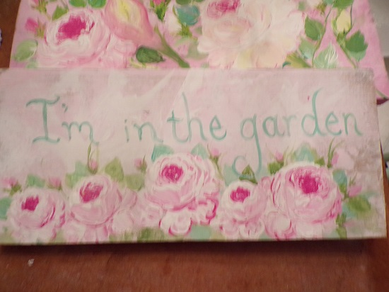 (You Know Where I Am) Handpainted Sign