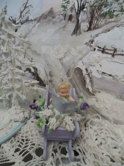 (Snow Fairy Baby) Decorated Christmas Ornament