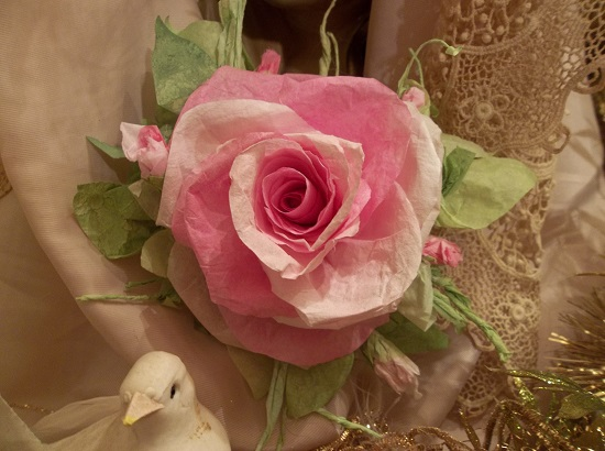 (Eve Monday) Handmade Paper Rose Clip