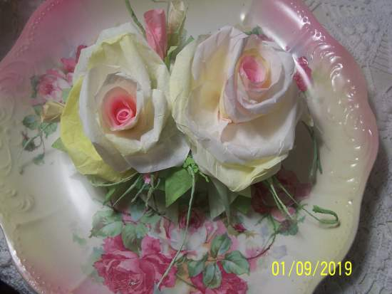 (Lemon Rose Parfait z) Paper Rose Clip Lamp Decor Chic n Shabby