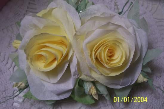 (DRYCO)  Handmade Paper Rose