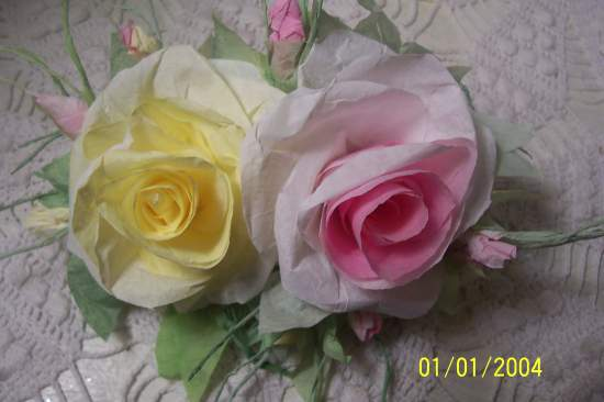 (DYPRC3) Handmade Paper Rose