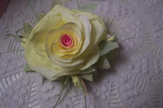 (pink lemonade)  Victorian Paper Rose Clip Lamp Decor Chic n Shabby