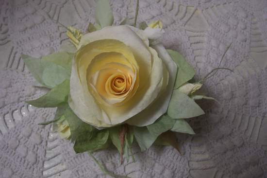 (Sunny rose )  Victorian Paper Rose Clip Lamp Decor Chic n Shabby