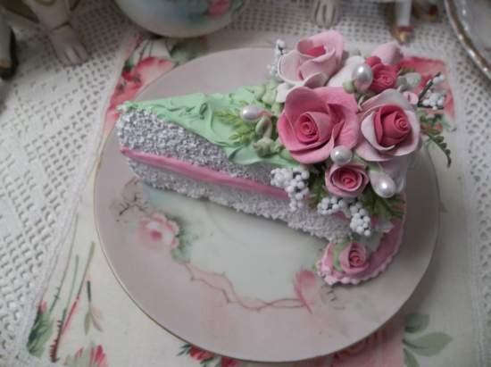 (Olive) Fake Cake Slice
