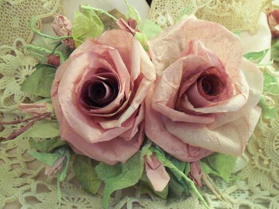(Selina) Handmade Paper Rose Clip