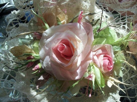 (Beautiful Dream) Handmade Paper Rose Clip