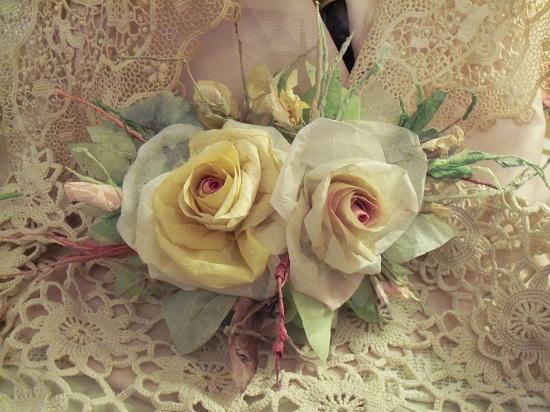 (Midge) Handmade Paper Rose Clip