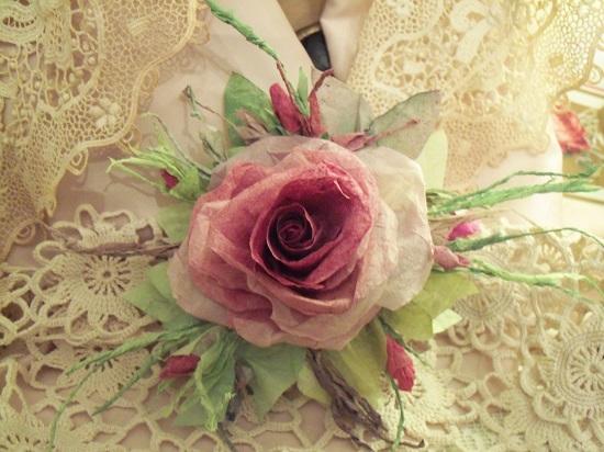 (Wanda Rosa) Handmade Paper Rose Clip