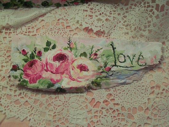 (Tattered Love) Handpainted Sign
