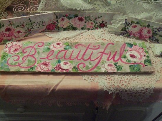 (Pink Is Beautiful) Handpainted Sign