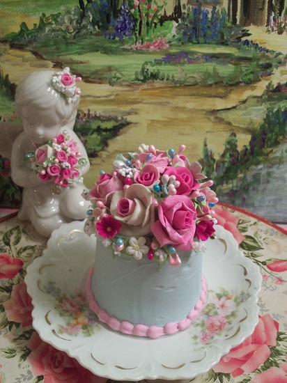 (Tea Party Time) Funky Junk Fake Cake