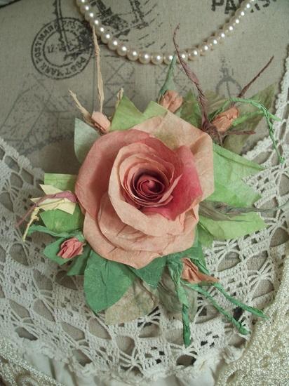 (Shayla Rosa) Handmade Paper Rose Clip