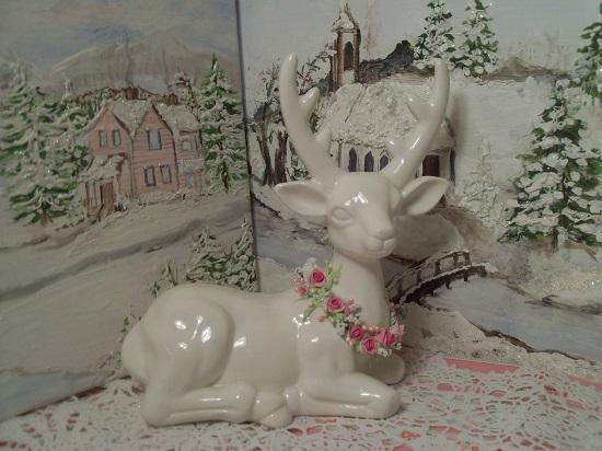 (Claire) Decorated Ceramic Reindeer