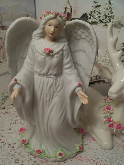 (Angella) Decorated Ceramic Angel