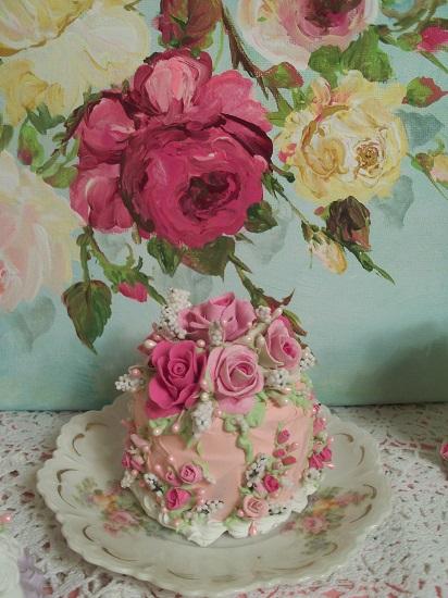 (Bianca Rose) Funky Junk Fake Cake