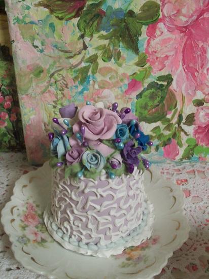 (Violet Sky) Funky Junk Fake Cake
