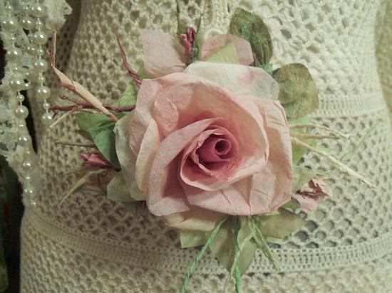 (Mandy) Handmade Paper Rose Clip