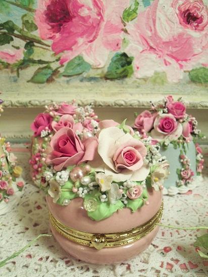 (Sweet Trina) Decorated Glass Trinket Box