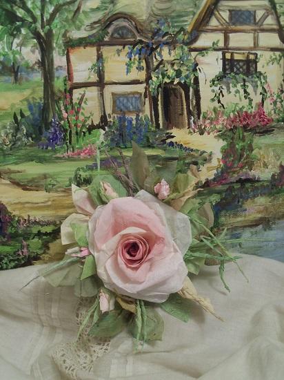 (Nicky) Handmade Paper Rose Clip
