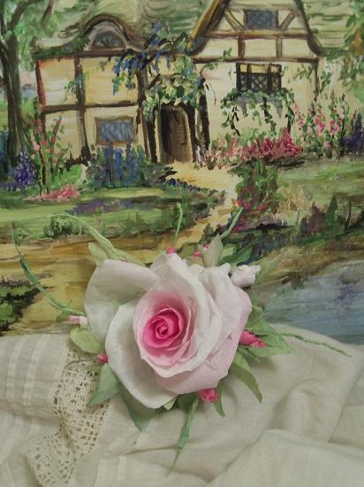 (Darla Dreamer) Handmade Paper Rose Clip