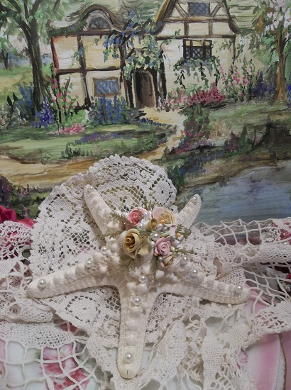 (Sea Cottage Star) Decorated Starfish