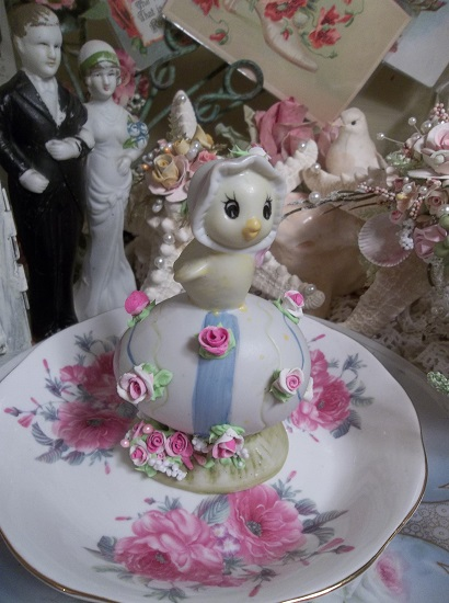 (Judy) Decorated Porcelain Chick