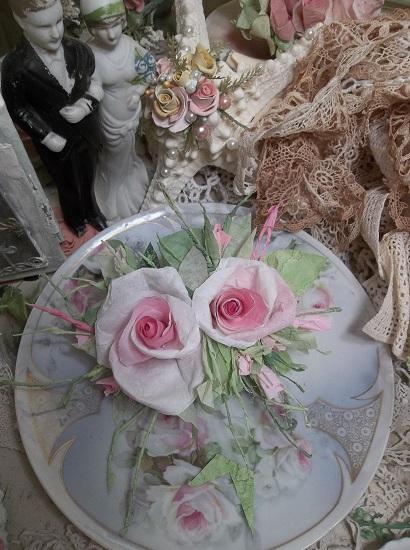 (Albia) Handmade Paper Rose Clip