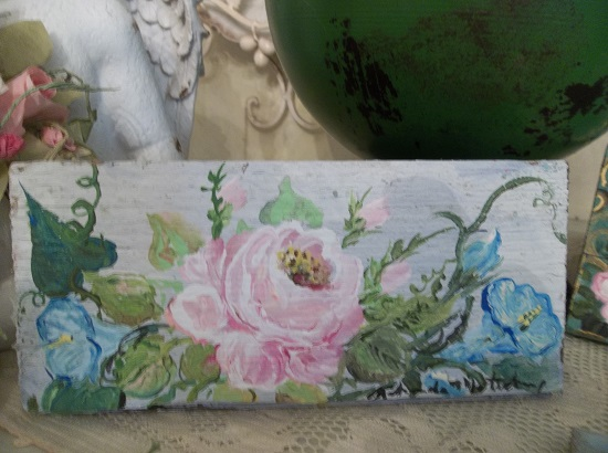 (Glory Of The Morning Roses) Handpainted Sign
