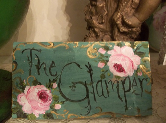 (The Glamper) Handpainted Sign