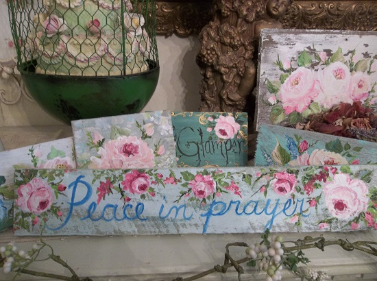 (Peace In Prayer) Handpainted Sign